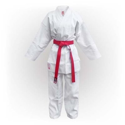 Karate Uniform, Saman, Kumite without belt, white, cotton/poly