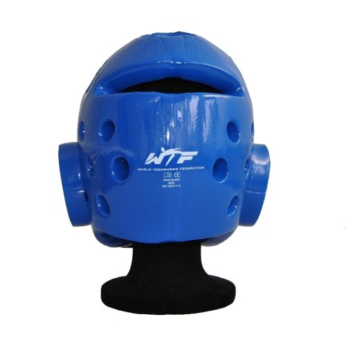 Head guard, Wacoku, WTF, dipped foam, blue