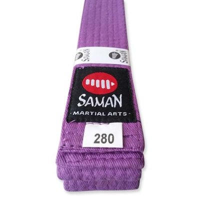 Belt, Saman, cotton, purple, 300 size
