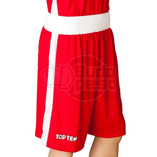 Boxing trunks, TOP TEN, AIBA, red/white