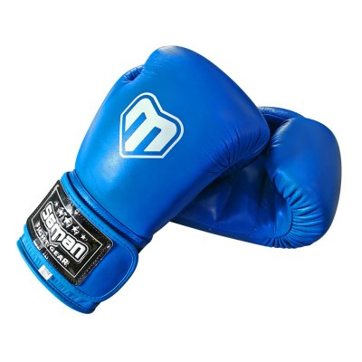 Boxing gloves, Saman, Competition, leather, blue