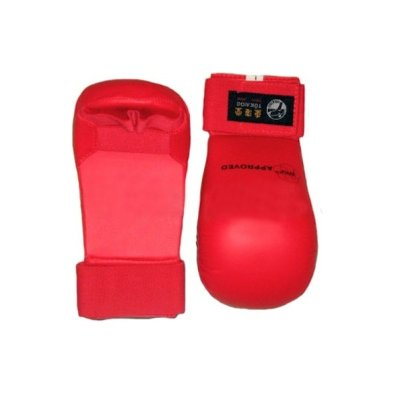 Karate mitt, Tokaido, WKF, artificial leather, red