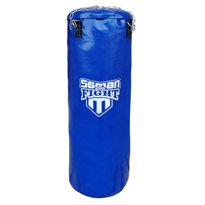 Punching bag, Saman, Spirit of Fight, blue, 120x40, PU, with chain
