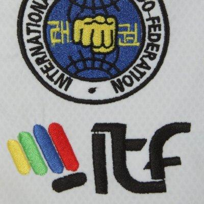 Taekwondo ruha, Top Ten, Premium Gold Master, ITF, fehér, 200 cm méret