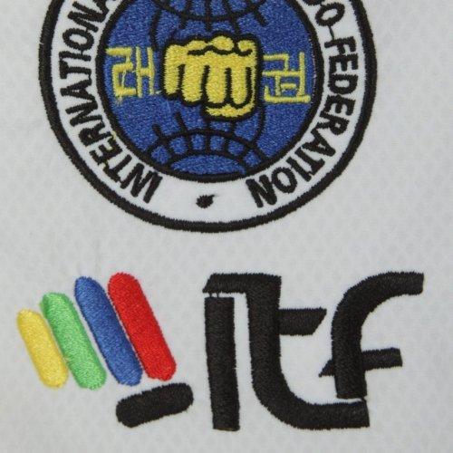 Taekwondo ruha, Top Ten, Premium Gold Master, ITF, fehér, 170 cm méret