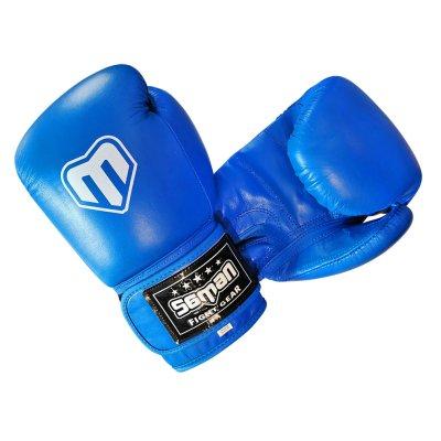 Boxkesztyű, Saman, Competition, bőr, kék