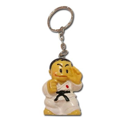 Key ring, judo figure