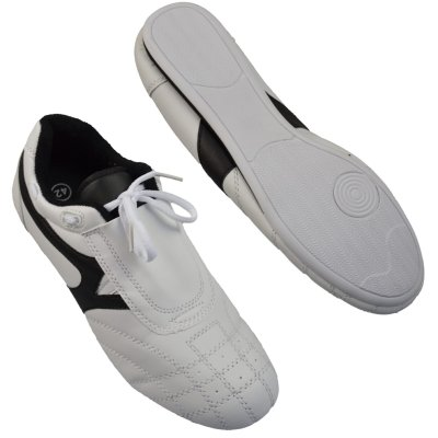 Martial arts shoes, Phoenix, white-black, 38 size