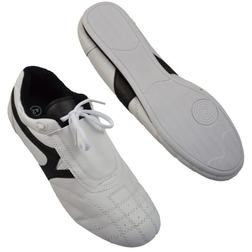 Martial arts shoes, Phoenix, white-black, 33 size