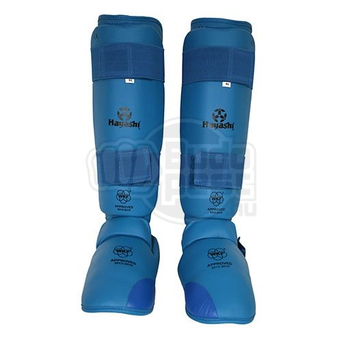 Karate Kickprotector and Shin Guard Set, Hayashi, WKF, blue, Kék szín, L size