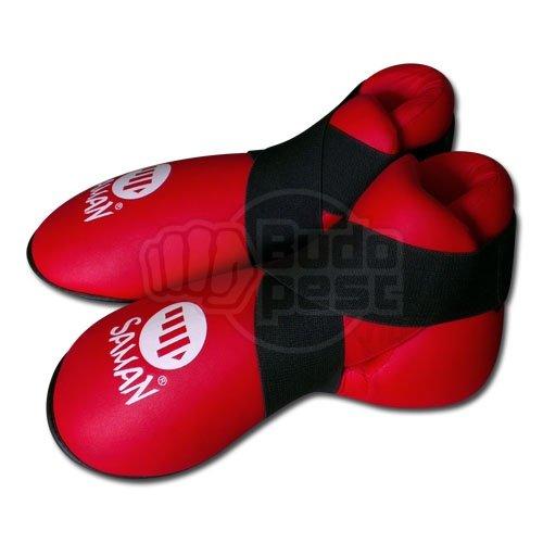 Lábfejvédő, Saman, tépőzáras, PU, piros, XL méret
