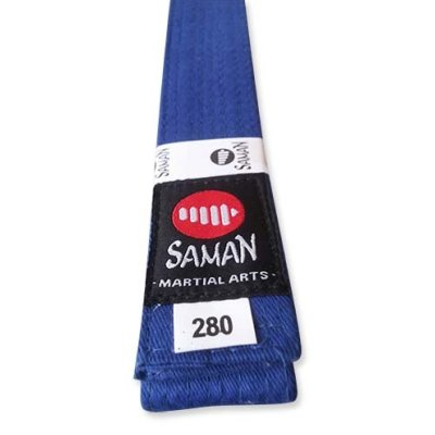 Belt, Saman, cotton, blue, 180 size