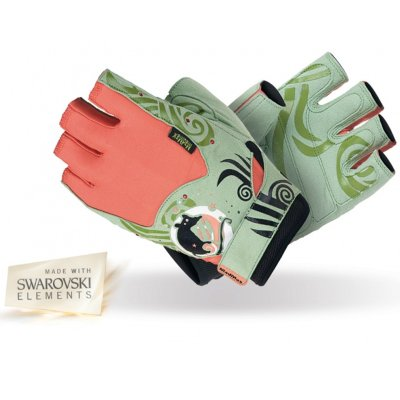 Fitness Gloves, Madmax, Rats with Swarovski Elements, for woman