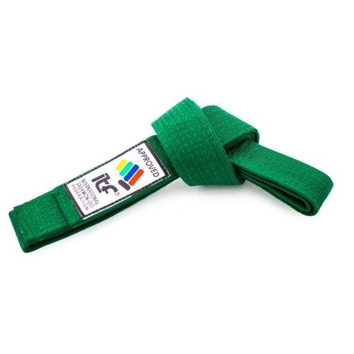 Taekwondo öv, Top Ten, ITF, zöld, 200 cm méret
