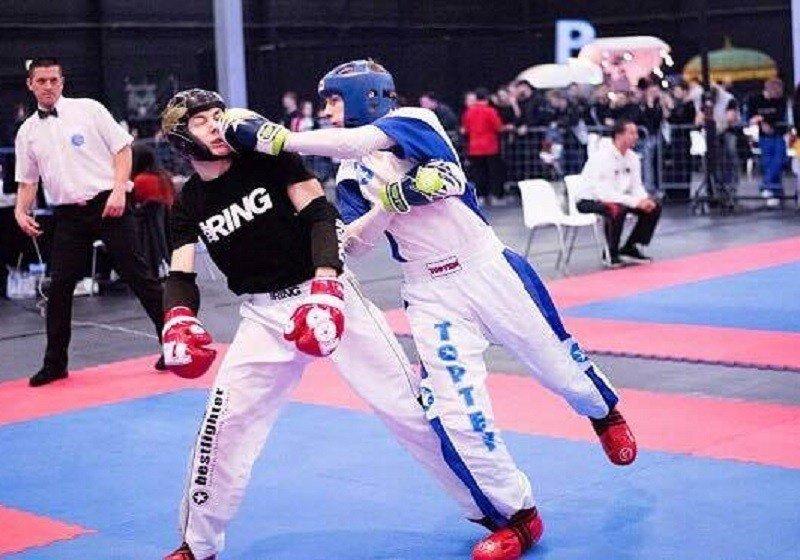 A kick-boxos Veres Roland négy elsősége Milánóban