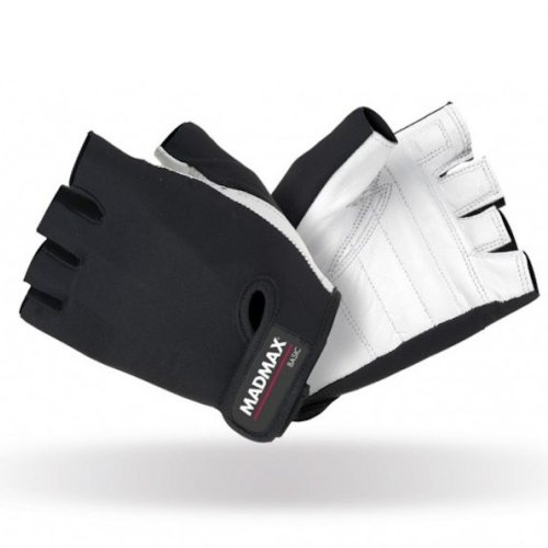 Fitness gloves, Mad Max, Basic, black-white, XL size