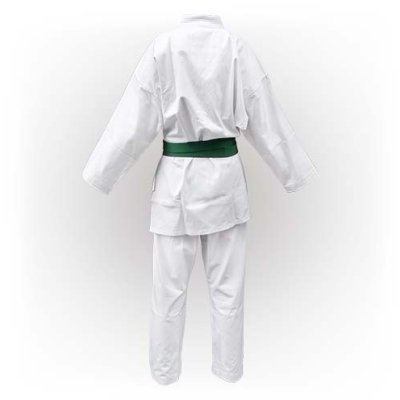 Karate Uniform, Saman, Basic Kata with belt, white, cotton, 160 size