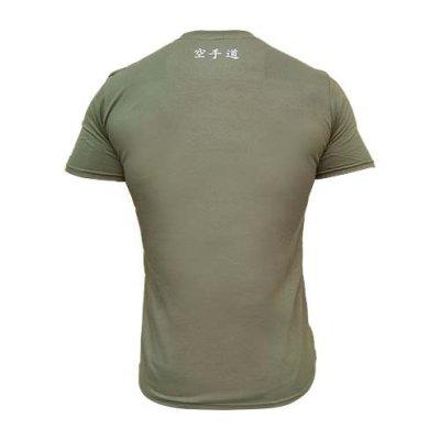T-shirt, Saman, Karate, cotton, military green, L méret