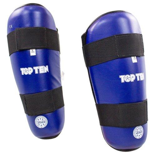 Lábszárvédő, Top Ten, WAKO Style, műbőr, Kék szín, S méret