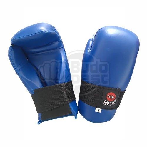 Semi-contact kesztyű, Saman, műbőr, kék, XL méret