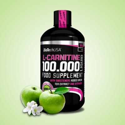 Biotech, L-Carnitine 100,000, 500ml Apple