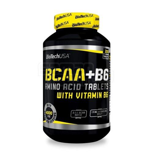 Biotech, BCAA + B6 Amino Acid Vitamin, 200 Tablets