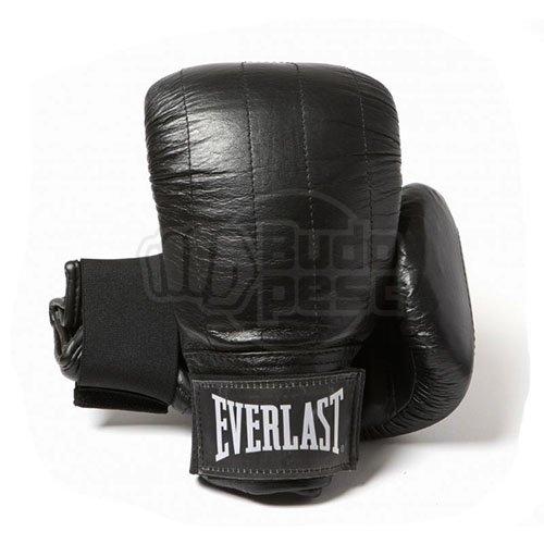 Everlast Boston, leather, bag boxing gloves, black, S size