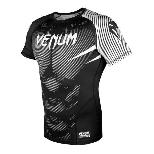 Rashgurard, Venum, NoGi 2.0, short sleeves, black-white