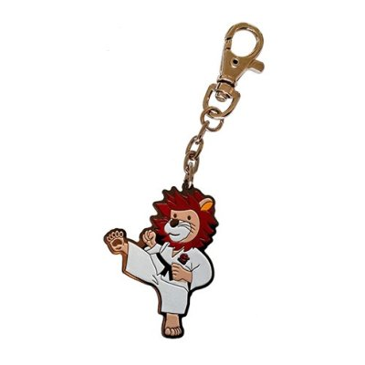 Key ring, Lion, metal