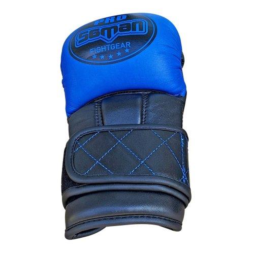 MMA kesztyű, Saman, Colours 1985, bőr, kék-fekete