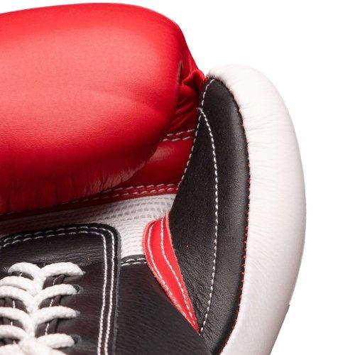 Boxing Gloves, Top Ten, Pro X, leather, Fehér-piros szín, 10 oz size