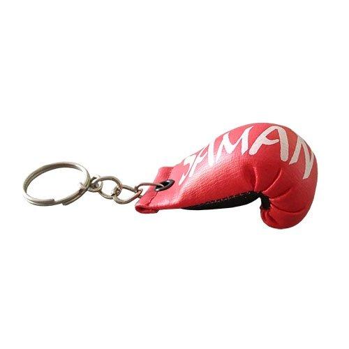 Kulcstartó, Saman, BOXKESZTYŰ, piros