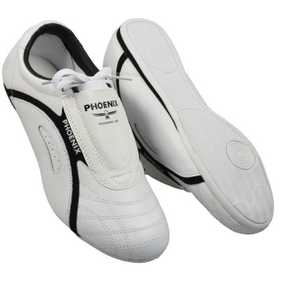 Taekwondo shoes, Phoenix, Professional Line, leather, white-black, 39 size