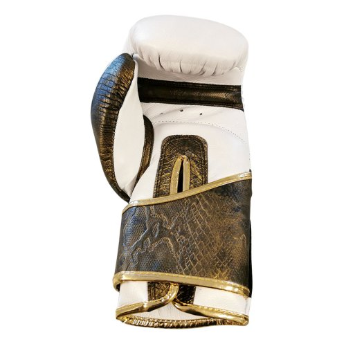 Boxkesztyű, Saman, Gold Snake, bőr, törtfehér-arany