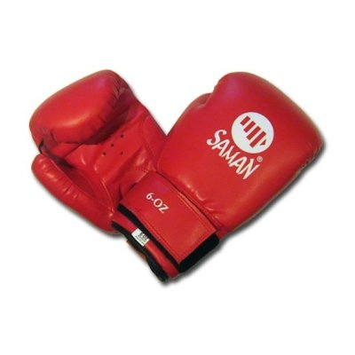 Boxing gloves, Saman, Kid Fit, for kids, DX-PU, red