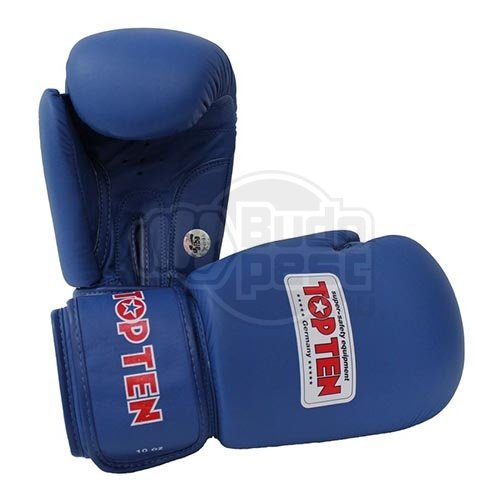 Boxing gloves, Top Ten, AIBA, blue, Kék szín, 12 oz méret