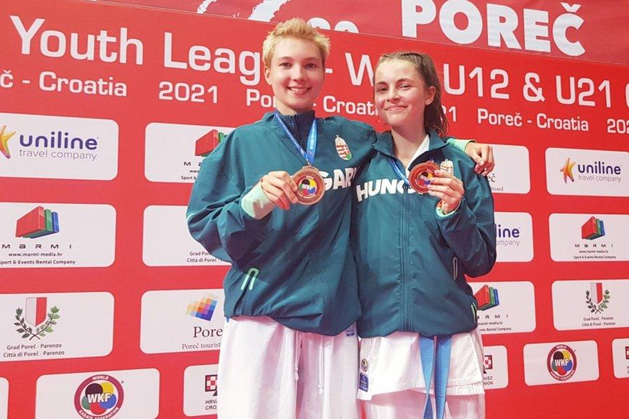 Magyar érmek a karate Youth League-en