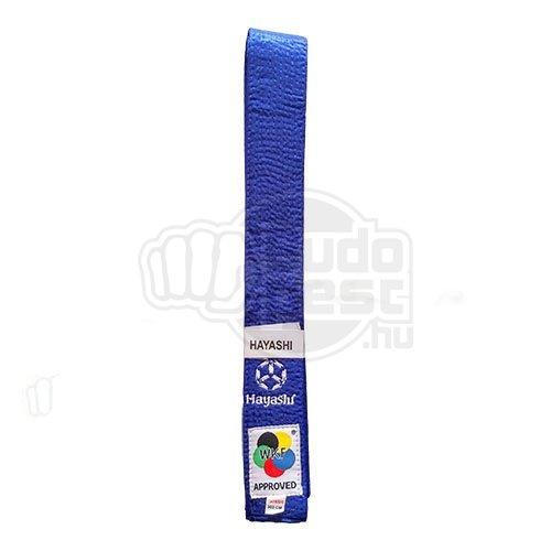 Karate öv, Hayashi, WKF, kék, 340 méret