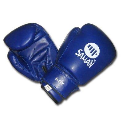 Boxkesztyű, Saman, Kid Fit, gyermek, DX-PU, kék