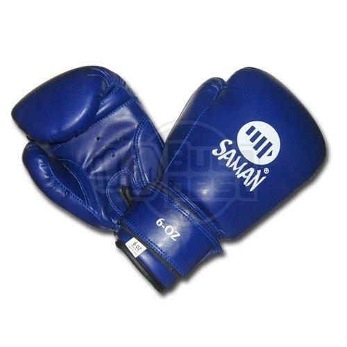 Boxing gloves, Saman, Kid Fit, for kids, DX-PU, blue, 8 oz size