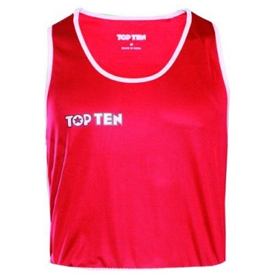 Boxing shirt, TOP TEN, AIBA, red/white