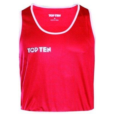Box felső, TOP TEN, AIBA, piros/fehér