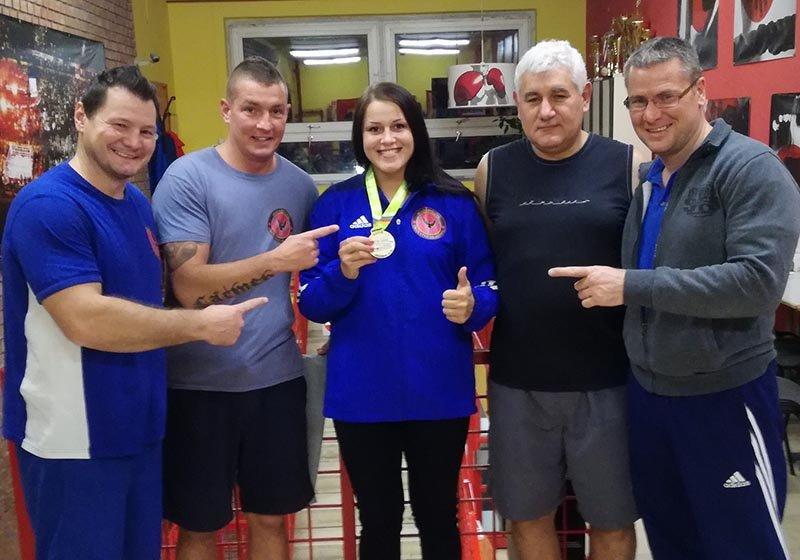 Szatmári Petra a 81 kg EB ezüstérmese