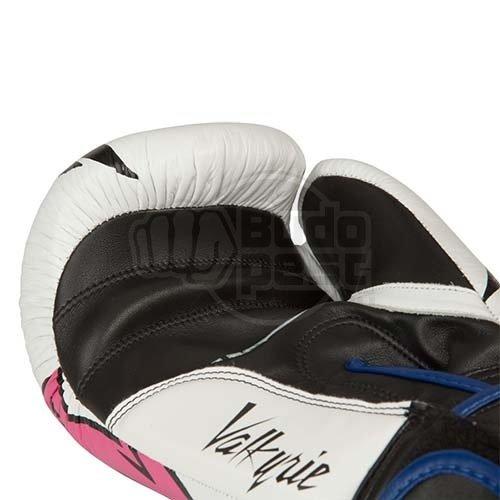Boxkesztyű, Top Ten, Vikings, rózsaszín/fehér/fekete, bőr/műbőr, 12 oz méret