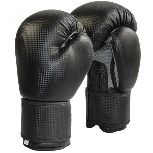 Boxing gloves, Phoenix, carbon optic, mesh, blue-grey