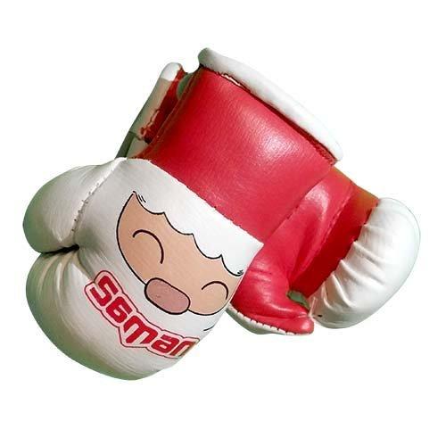 Mini Boxing Gloves, Saman, Hang-up, pair, red/white, Santa