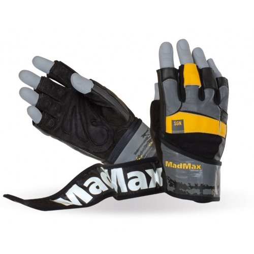 Fitness Gloves, Madmax, Signature, for men, Fekete-narancs szín, S size