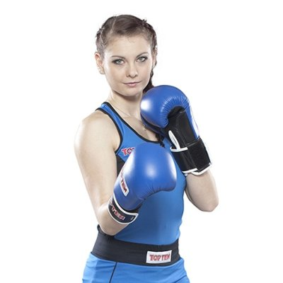 Boxing shirt, for women, TOP TEN, blue