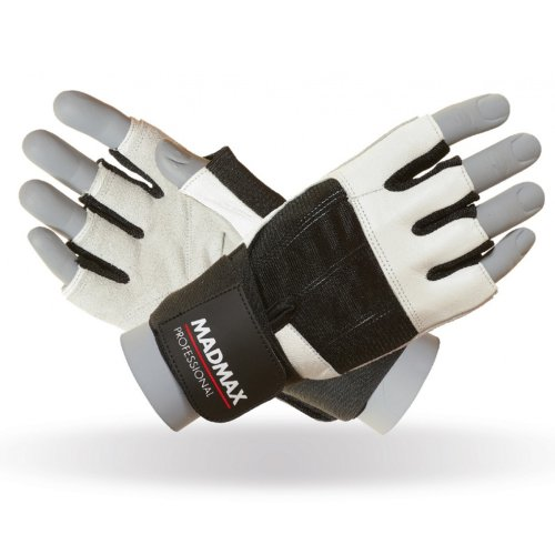 Fitness Gloves, Madmax, Professional, for men, Fekete-fehér szín, M size