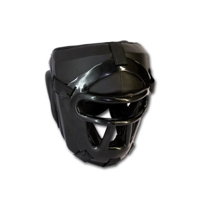 Fejvédő, Saman, rácsos, műbőr-műanyag, fekete